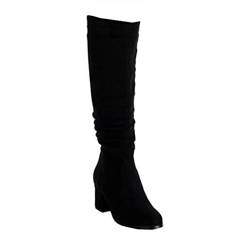 Angkorly Zapatillas de Moda Botas Altas cavalier Jeans