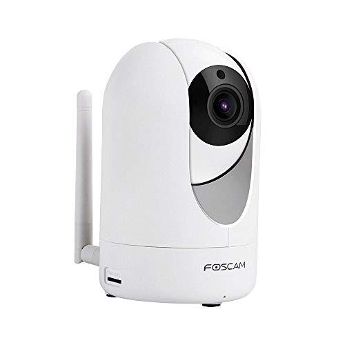 Foscam R2M - Drehbare und Schwenkbare Full HD IP WLAN Kamera/Überwachungskamera mit 2 MP (Auflösung von 1920x1080 Pixel), P2P, IR Nachtsicht, microSD-Kartenslot, Bewegungserkennung, 2-Way-Audio-Sytem