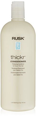 RUSK Designer Collection Thicker Thickening Conditioner for Fine or Thin Hair, 33.8 Oz, Daily-Use Thickening Conditioner that Strengthens and Repairs, Gives Full-Bodied Appearance