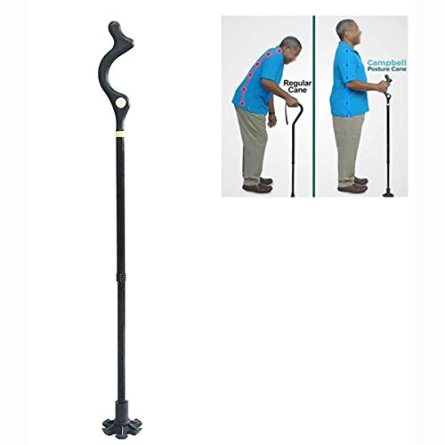 Angelay-Tian Folding Crutch,Hiking Walking Trekking Poles Adjustable Height Self-Stand 360° Traction Non Slip Crutch Hiking/Trekking Pole/Travel/Home