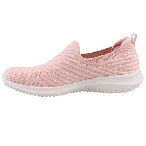 Skechers Zapatillas para mujer Ultra Flex Cool Streak, color rosa, color Rosa, talla 40 EU