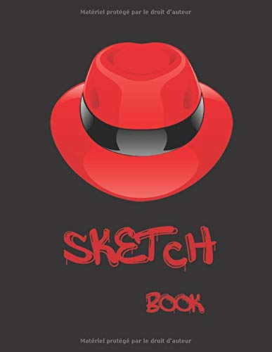 Sketch book: :black paper: notebook for painting, doodling, drawing, writing and more/ 100 pages, 8.5*11 inches