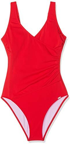 Schiesser Damen Badeanzug, Rot (Rot 500), 38 (Herstellergröße: 038C)