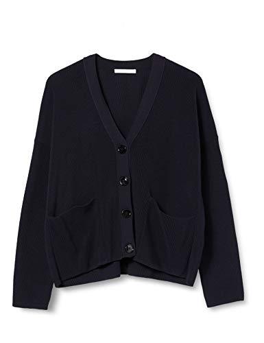 BOSS Womens Willia Cardigan Sweater, Open Blue (466), L