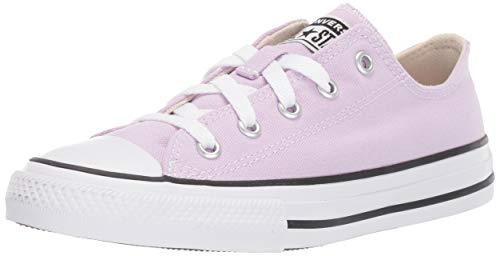 Converse Unisex-Kid's Chuck Taylor All Star Seasonal Low Top Sneaker, Lilac Mist, 1 M US Little Kid