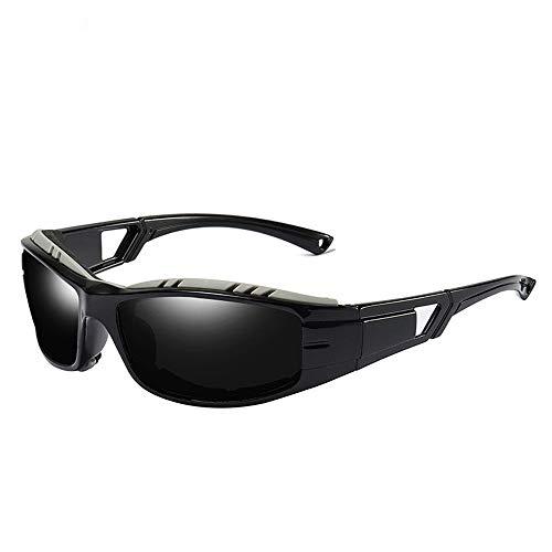 KDOAE Gafas de Sol Deportivas Deportes Gafas de Sol polarizadas Gafas de Sol polarizadas al Aire Libre de los Hombres Hombres Mujeres (Color : Black, Size : One Size)
