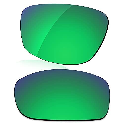 LenzReborn Reemplazo de lente polarizada para gafas de sol Costa Del Mar Whitetip - Más opciones, Verde césped - Espejo polarizado, Talla única