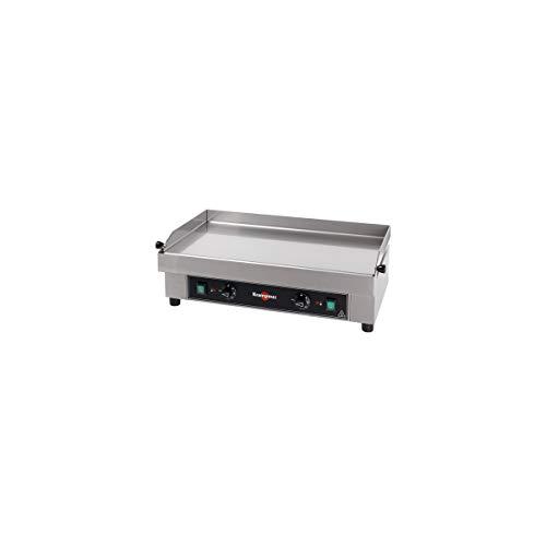 KRAMPOUZ-Plancha de cocina gas, acero inoxidable, 64 x 34 x 0,3 cm