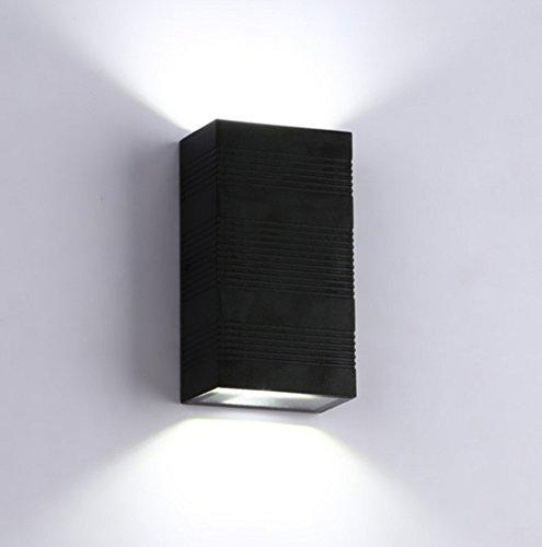 LED Mur Extérieur Lampe Étanche Lampe de Chevet Chambre Salon En Plein Air Allée Mur Lampe Balcon Escaliers Jardin Applique , 2 , 6W