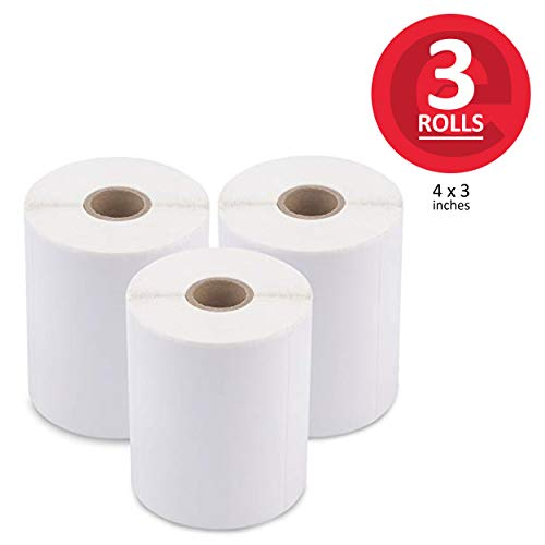 enKo (12 Rolls, 6000 Labels) 4 x 3 Direct Thermal Address Mailing Shipping Barcode FBA Stickers FN SKU Labels for Zebra,Eltron (Perforated)