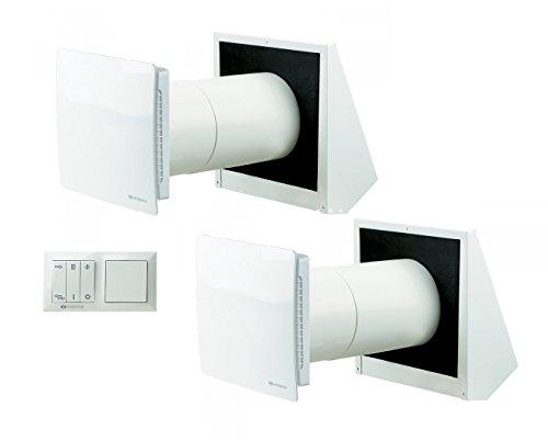 Juego de ventilación Vents Twin Fresh RA de 150(con control) + Twin Fresh R de 150/controlada VMC autorregulable descentralizada con recuperación de calor 10.00 wattsW
