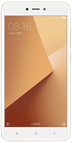 "Xiaomi Redmi Note 5A Smartphone SIM doble 4G 16GB 5.5"", 16 GB, 13 MP, Android, 7.0 Nougat, Blanco/Oro [Versión Europea]"
