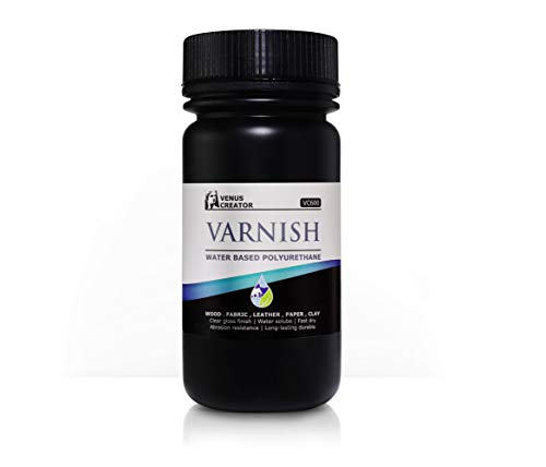 VENUS CREATOR VC600 Water Based Varnish - 2020 New Formulation, Nano-TiO2 Photocatalysis Compound - 10 Ounces Gloss and Self Healing for Clay, Wood, Fabric, Paper, Leather, Metal.