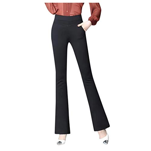 Cheapest Price! Kanzd Women Pants Women High Stretch Pocket Shaping Dress Pants Office Casual Trouse...