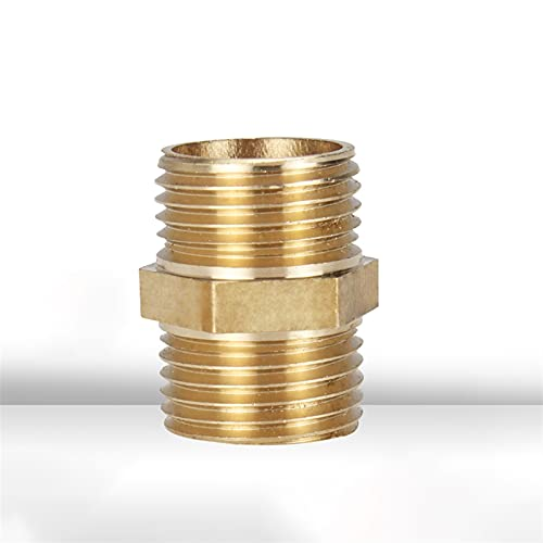 Doamt Zmaoyun-Tubos de latón Tubo de latón Ajustado pezón Hexagonal 1/8'1/4 '' 3/8 '' 1/2'''Male Conector de acoplador de Hilo Cobre, Material de latón Duradero (Color : 1 1)