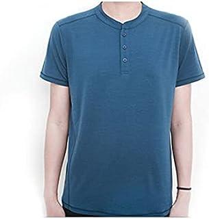 Wanxiaoyyyinnsdx Mens Henley Short Sleeve, Men T Shirt Short Sleeve Base Layer Midweight Top Thermal Men Sports T Shirt Si...