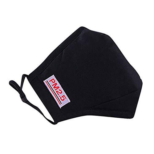 Auifor Adultos A prueba de polvo, lavable, adecuado para deportes al aire libre, correas para los oídos ajustables(Negro,1 PC)