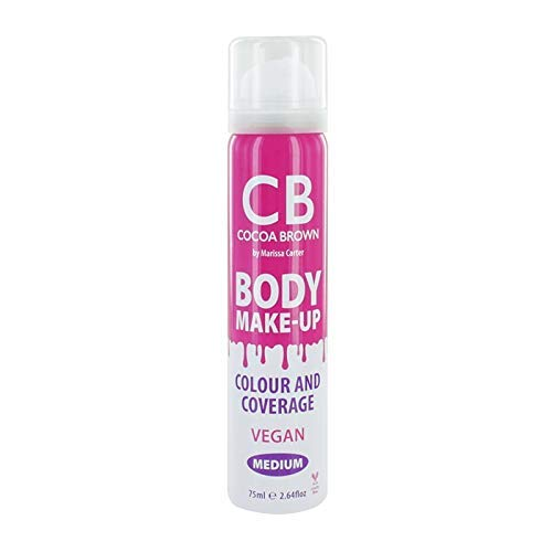 Cocoa Brown Body Makeup Color & Coverage - Instant Bronzer for Face & Body (2.64 fl oz)