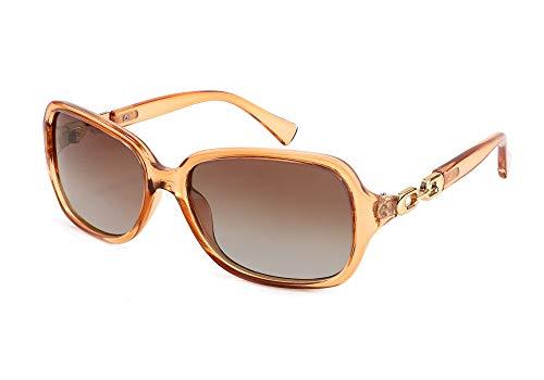 FEISEDY Klassisch Übergroß Sonnenbrille für Damen Polarisiert UV400 Schutz B2526