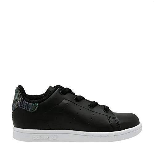 Adidas Stan Smith El I, Zapatillas de Gimnasia Unisex bebé, Negro (Core Black/Core Black/FTWR White Core Black/Core Black/FTWR White), 24 EU