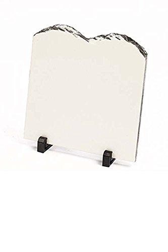 1 Sublimation Blank Rock Stone Slate Heat Press Thermal Transfer Coated Dye (10 Commanders) 21 x 20cm Individual Box