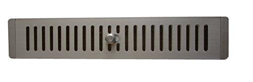 Presa D'aria in Alluminio Regolabile 410 x 78 mm per Armadi, Griglia di Ventilazione in Alluminio, Griglia Regolabile Aperta e Chiusa