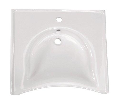 'aquaSu® Waschtisch Komfort | Unterfahrbar | Behindertengerecht | 65 cm | Weiß | Waschbecken