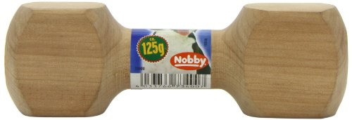 Nobby Jouet à lancer en bois en forme d'haltère pour chien
