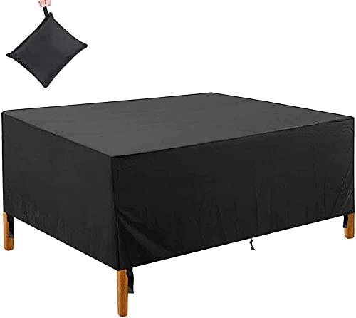 Gartenmöbel-Abdeckungen, Rattan-Möbelabdeckungen, rechteckig/quadratisch, 420D Oxford, wasserdicht, UV-Schutz, für Terrasse, Outdoor, Tisch, Stuhl (170 x 94 x 70 cm)