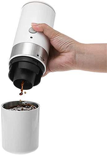 Espresso machine Eenvoudig te gebruiken koffiezetapparaatmachine Mini Electric Portable Koffiezetapparaat Espresso Handheld Machine karaf Brewer (Kleur: Wit, Maat: Een maat)