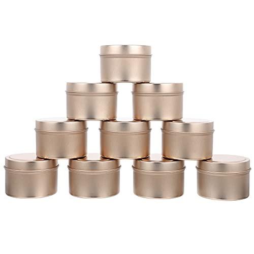 TOPHUHAI 12pcs Tins vacíos Tinas de Vela Tarras de Vela Envases de Vela para la fabricación de Velas (Color : Rose Gold)