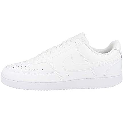 Nike Court Vision Lo, Zapatillas para Hombre, Blanco-Blanco-Blanco, 41 EU