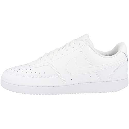 Nike Herren Court Vision Lo Sneaker, White/White-White, 45 EU