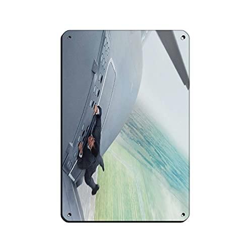 Mission Impossible – Rogue Nation 3 Wandbild, Blechschild, Vintage, Metall, für Kneipen, Clubs, Cafés, Bars, Zuhause, Wanddekoration, Poster, 20 x 30 cm