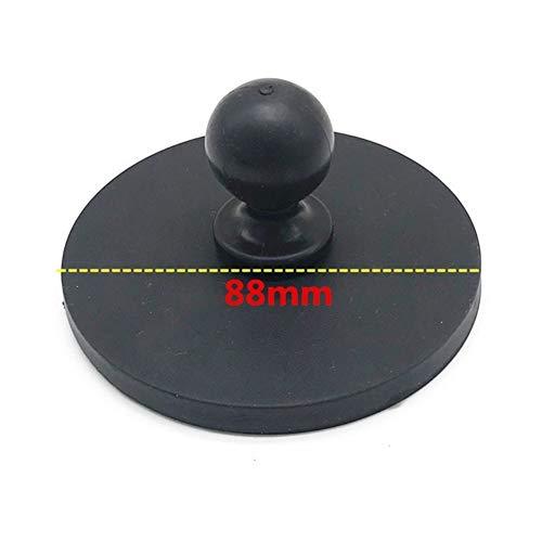 FUQUANDIAN La Motocicleta del Coche magnético del imán Suciton Base de la Taza W / 1 '' Pulgadas Rubber Ball Head for Ram Mounts for Sony Garmin Gopro Acción Accesorios Cámara Accesorios de Soporte