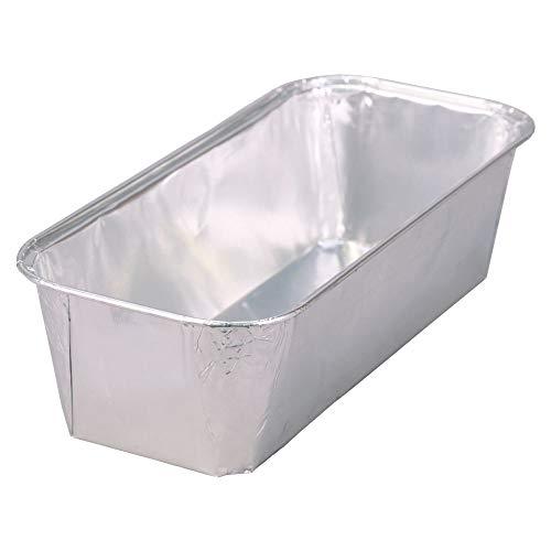 Wertpack 100x Aluformen für Fleischkäse, Leberkäsform, Alu, Silber, 1 kg, 232x108x60 mm