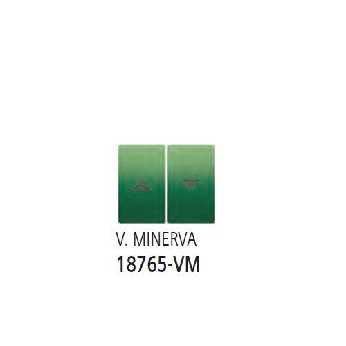 Bjc iris color - Teclas pulsador interruptor persiana serie iris verde minerva