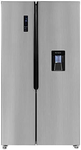 Exquisit Side by Side Kühlschrank SBS 160-4 XWTA++ | Wasserspender | No Frost | 518 Liter |Inoxlook