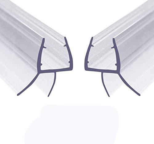 Ducha Pantalla Sello - Junta Repuesto Para el Vidrio para 6-8mm De Puerta de Cristal Curvado/Recto, 2X 100cm Mampara de Ducha No Se Requiere Pegamento