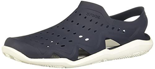 Crocs Men's Swiftwater Wave Shoe Flat, Navy/White, 12
