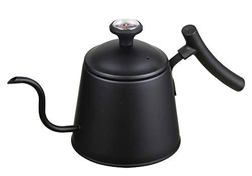 パール金属ドリップポットブラック1.1L温度計付ステンレス製美味カフェHB-4728