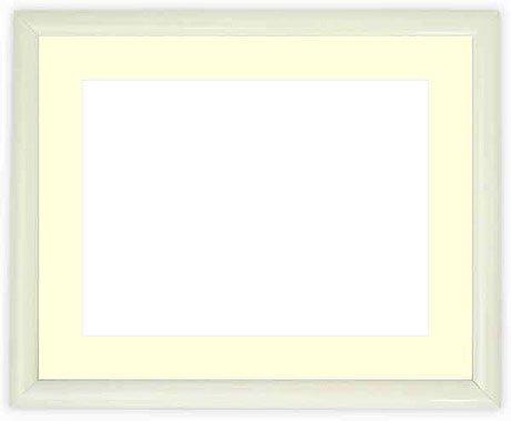写真用額縁 713/白写真ワイド六つ切(305×203mm) ガラス マット付 マット色:黒