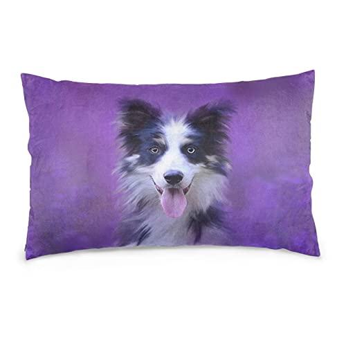 Funda de almohada decorativa con diseño de bozal para perro, 35,5 x 50,8 cm, para decoración del hogar