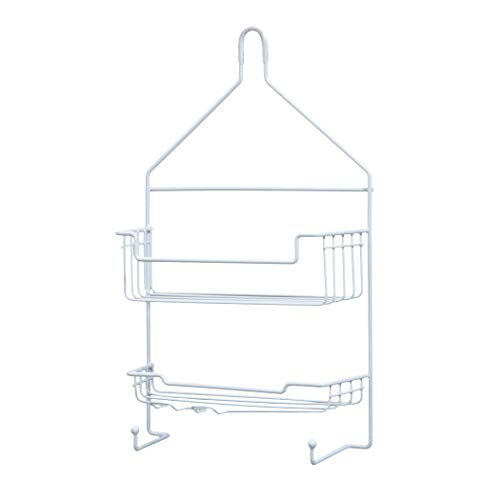 Kenney 2-Shelf Hanging Shower Caddy, White