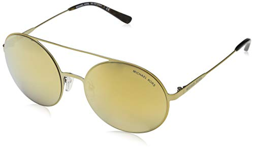Michael Kors Damen Cabo 11937P 55 Sonnenbrille, Gold (Pale Gold/Tone/Liquidgold)