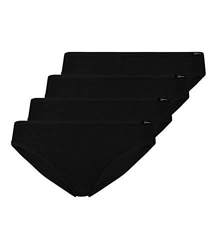Skiny 4er Pack, Advantage Cotton Damen Rio Slip (42, Black)