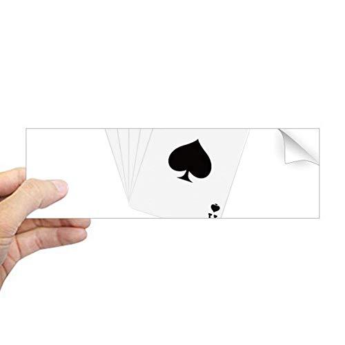 DIYthinker Spade Royal Flush 10 tot een patroon rechthoek bumper Sticker Notebook Window Decal