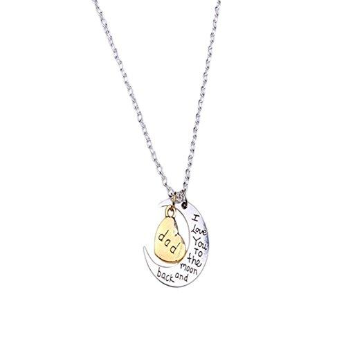 Gespout Collar de Luna de Plata Con Alfabeto Grabado Colgante Personalizado Ajustable