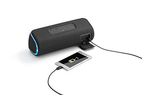 SRS-XB41 Speaker Wireless Portatile con Extra Bass, Impermeabile e Resistente alla Polvere IP67, Effetti Luminosi, Batteria fino a 24 Ore, Bluetooth, NFC, Nero