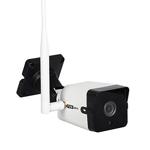 WLAN IP Kamera, FUSWLAN 5MP Metallgehäuse Überwachungskamera Aussen,HD WiFi Kamera für Aussen, WiFi Außenkamera mit Humanoid Detection, Nachtsicht, Zwei Wege Audio, SD Kartenslot und IP66 Wasserdichte